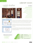 Cabinet Vision Solid Drafter for Closets Data Sheet