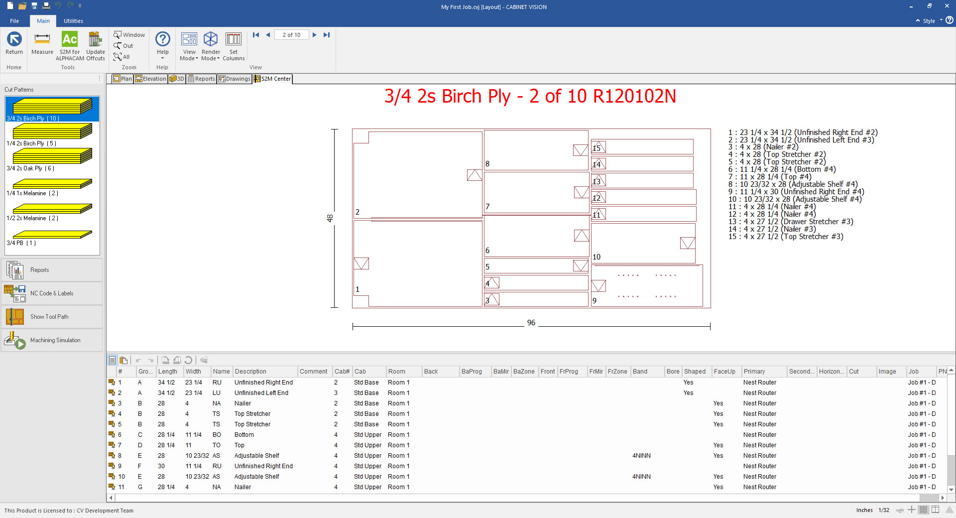 CABINET VISION xMachining Software
