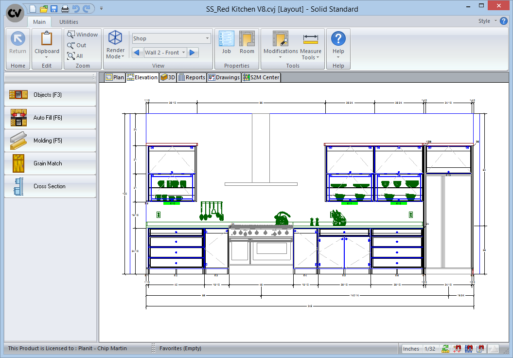 Charmant ... Software Cabinet Vision Solid Standard CAD Drawing ...