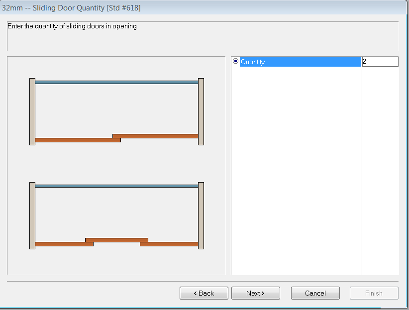 4) Now Start A New Job And Place A Cabinet On A Wall. Go To The Assembly  Editor \ Section View Level. Select The Doors. Now Select The Slide Doors  Option On ...