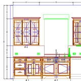 Cabinet Vision Solid Advanced elevation view CAD drawing